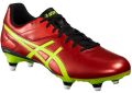 Asics Lethal Speed ST Rugby Boots in Vermilion Red - Black - Safety Yellow : Click for more info.