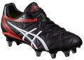 Asics Lethal Scrum 8 Stud Rugby Boots Onyx Black - Vermilion Red - White  : Click for more info.